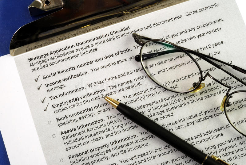 The Documents Required In A Mortgage Application Royalty Free Stock Photography