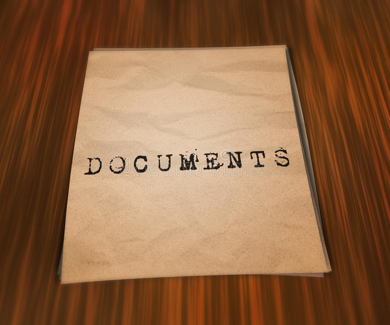 Documents on the Table. Image vector illustration