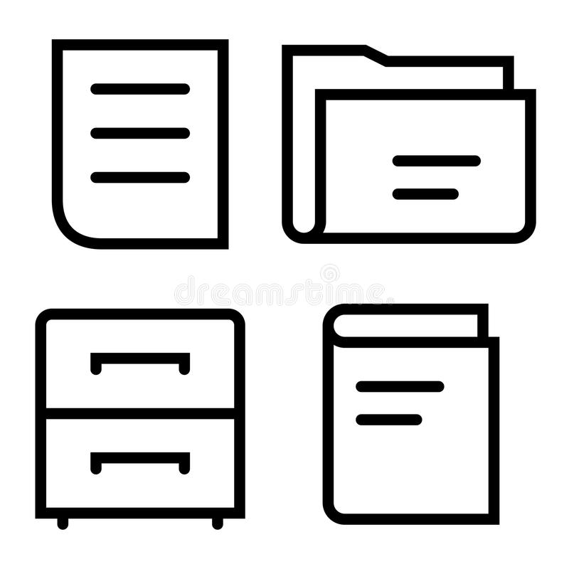 Download Documents thin set stock vector. Illustration of library - 34271245