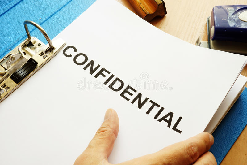 Documents with title Confidential. royalty free stock photos