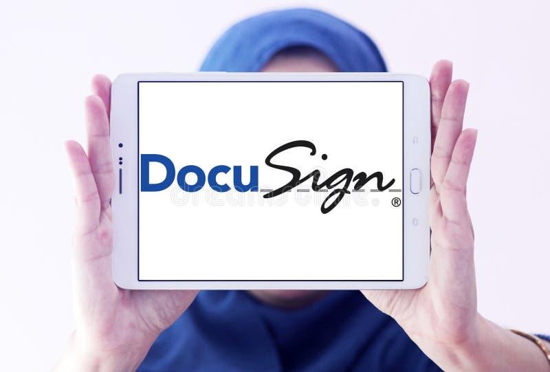 DocuSign företagslogo royaltyfri bild