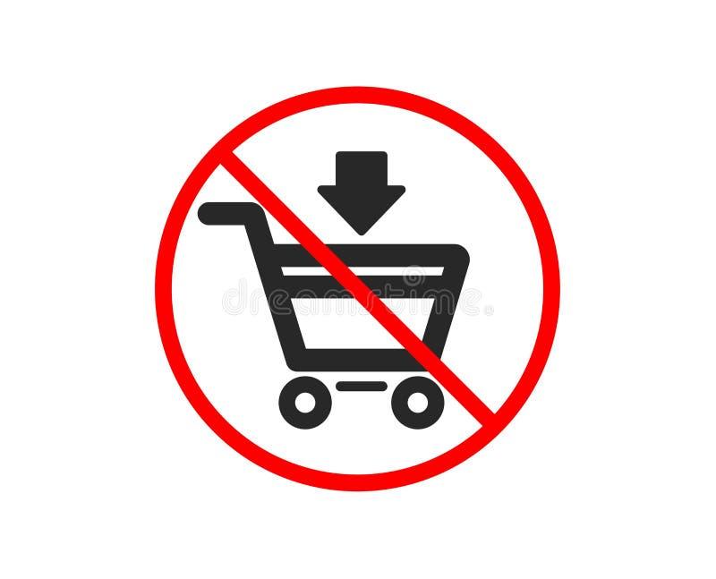 doda? ikon? w?zka na zakupy Online kupienie wektor ilustracji