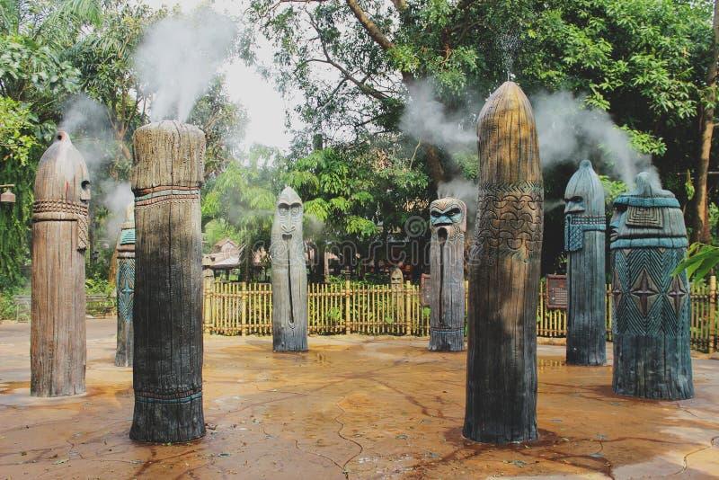 Dodatek specjalny dymne fontanny obraz stock