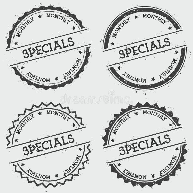 Dodatek specjalny insygni miesięczny znaczek odizolowywający na bielu ilustracji