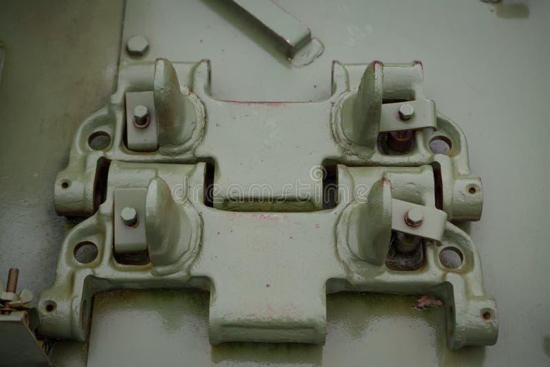 Dodatkowe części dla militarnego zbiornika zdjęcie stock