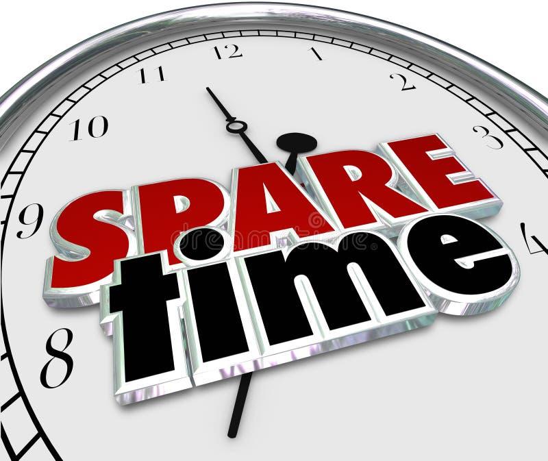 Dodatkowego czasu wolnego czasu wolnego aktywność godzin Przelotne Zegarowe minuty ilustracja wektor