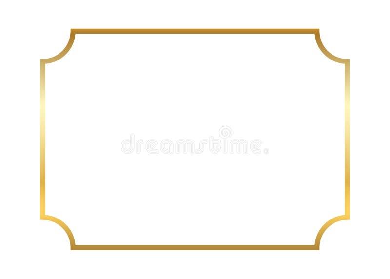 dodatkowej adobe eps formata ramy złocisty ilustrator zawiera Piękny prosty zdjęcie stock