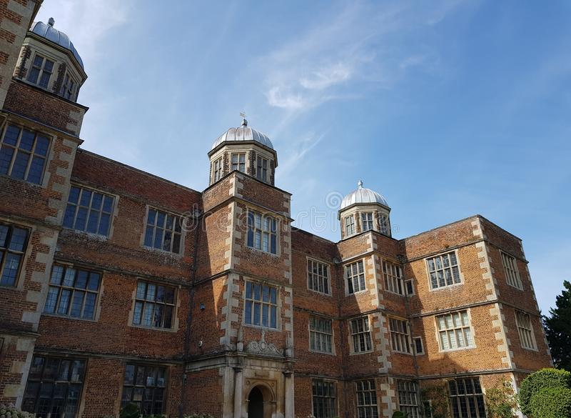 Doddington Hall, 16th Century House in England, UK. Pictured on a summers day stock photo