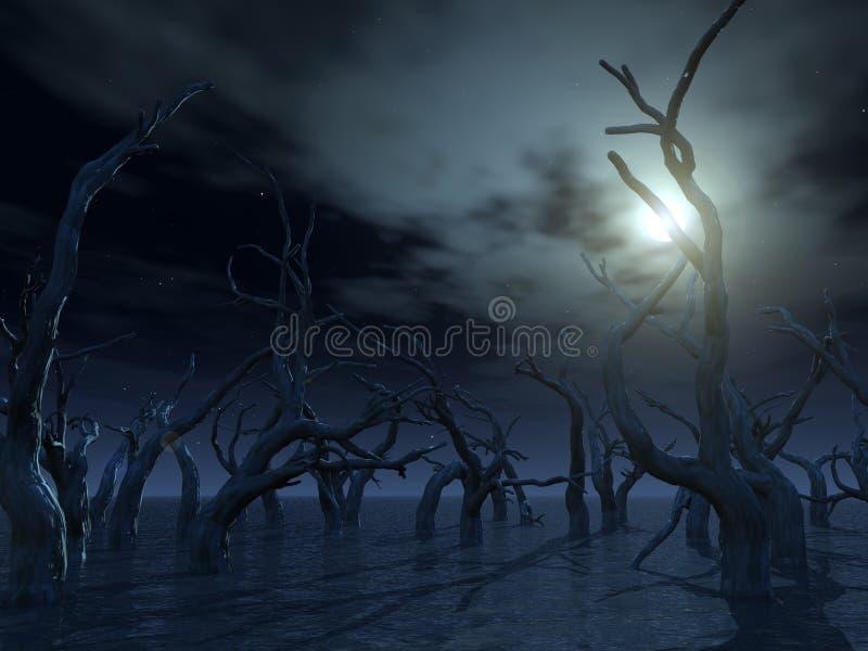 Dode bomen royalty-vrije illustratie