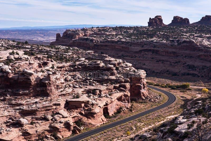 Dode Hoge Manier 313 van Mesa Scenic Byway State Road van het Paardpunt royalty-vrije stock foto