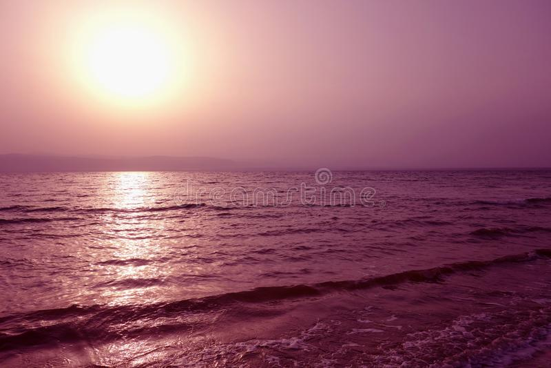 Dode Overzees in Jordani? royalty-vrije stock foto's