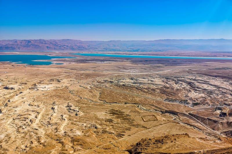 Dode Overzeese mening van Masada royalty-vrije stock afbeeldingen