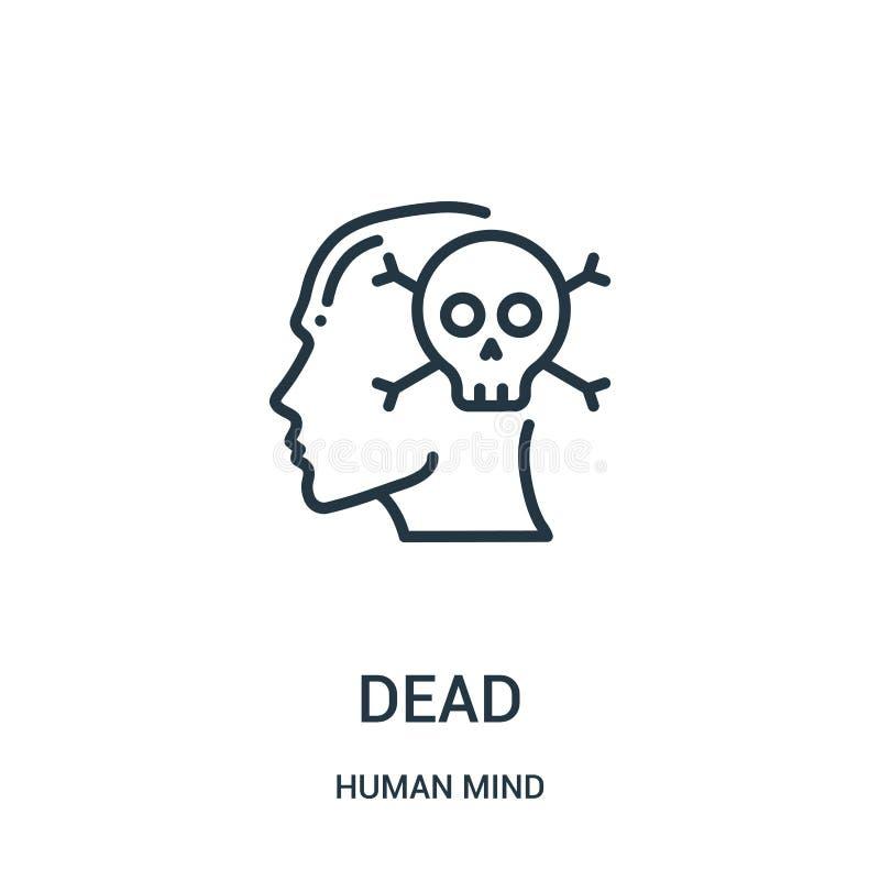 dode pictogramvector van menselijke meningsinzameling Dunne het pictogram vectorillustratie van het lijn dode overzicht Lineair s royalty-vrije illustratie