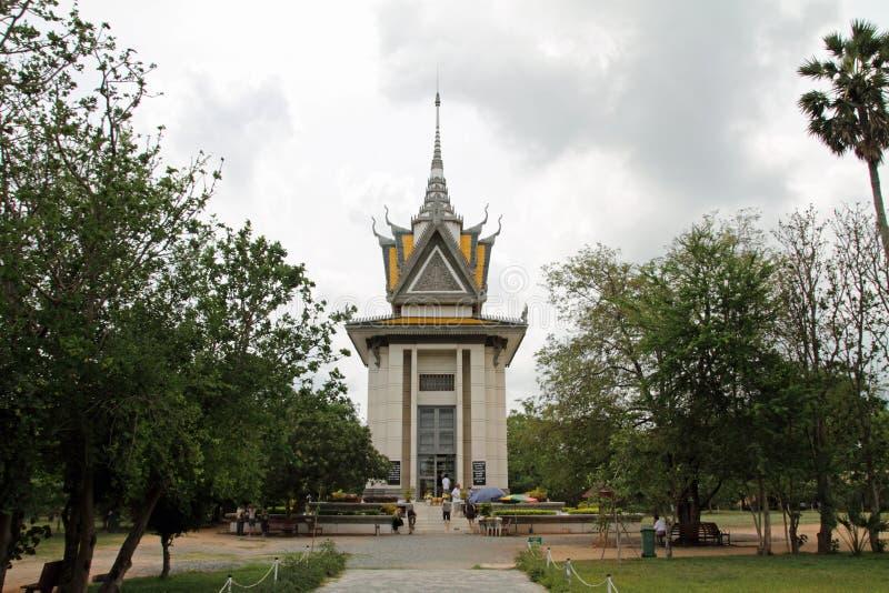 Dodend gebied in Phnom Penh stock foto