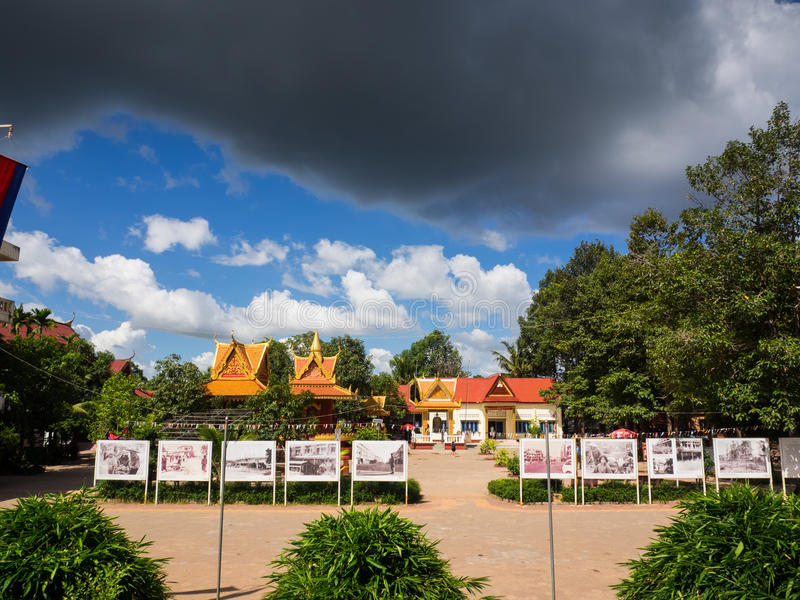 Dodende gebiedsplaats in Kambodja stock afbeelding