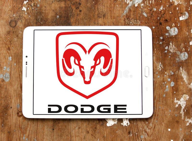 Dodge-autoembleem royalty-vrije stock foto's
