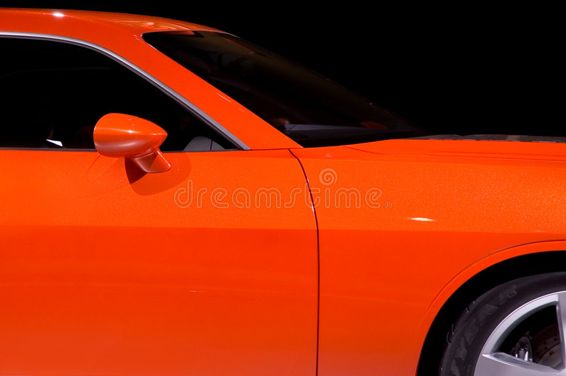 Dodge Challenger 2006. Brand new Dodge Challenger 2006 model. Isolated on a black background. Clipping path Included. Many more car photos in my gallery royalty free stock image