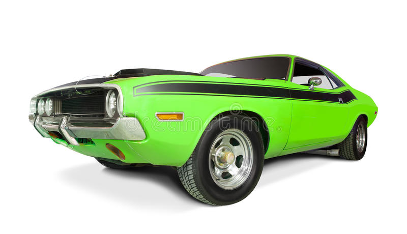 Dodge Challenger 1970. Dodge Challenger 1970 isolated on white royalty free stock photos
