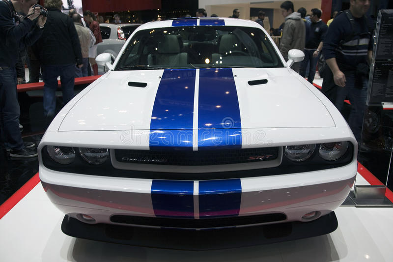 Dodge Challenger SRT8 392. Presented at the 2011 edition of the Geneva Motorshow. Photo taken on: March 04th, 2011 stock image