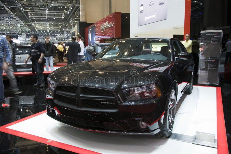 Dodge Charger R/T Max. Presented at the 2011 edition of the Geneva Motorshow. Photo taken on: March 04th, 2011 stock photo