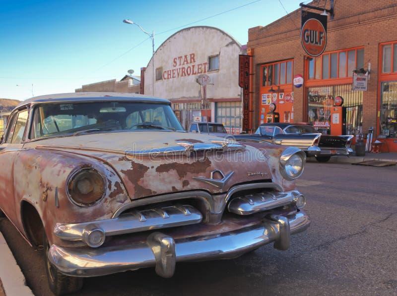 Dodge clássico oxidado velho, Lowell, o Arizona fotos de stock