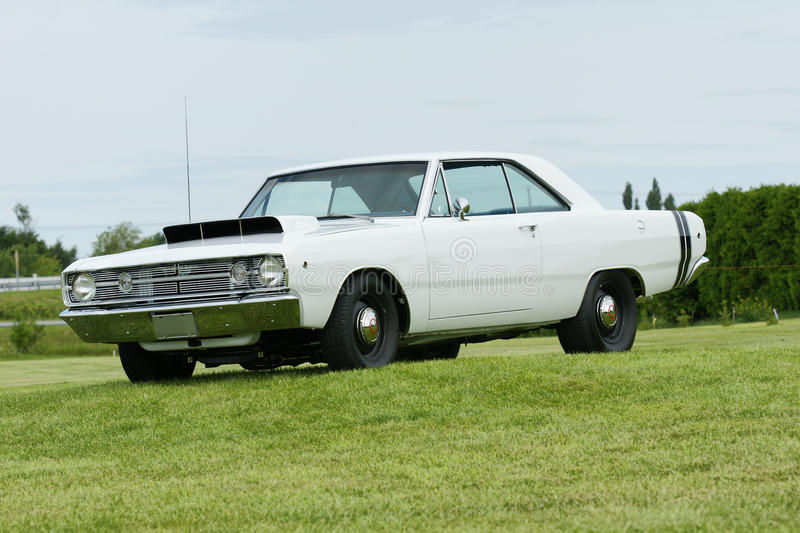Dodge dart. Picture of the white race car dodge dart hemi royalty free stock images