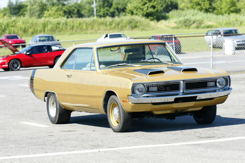 Dodge dart. Picture of dodge dart swinger on the parking royalty free stock photography