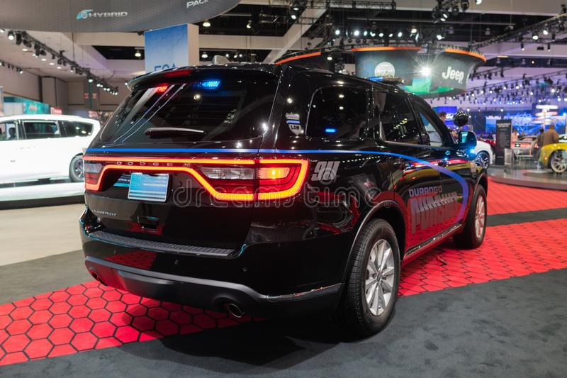 Dodge Durango Pursuit on display during Los Angeles Auto Show royalty free stock image