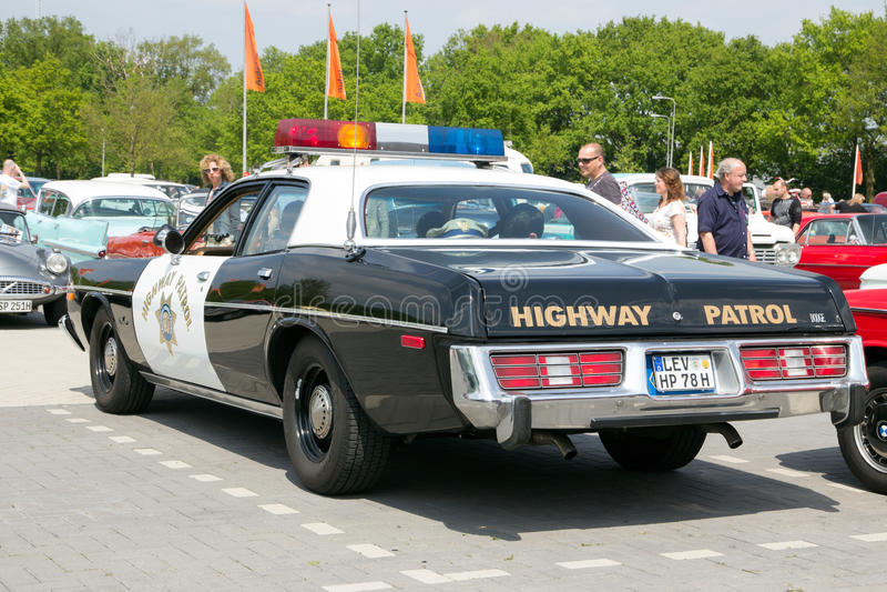 1978 Dodge Monaco Kalifornien Landstraßen-Patrouille stockbild