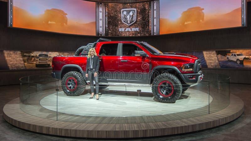 Dodge RAM Hellcat TRX 1500 Buntowniczy pojęcie obraz stock