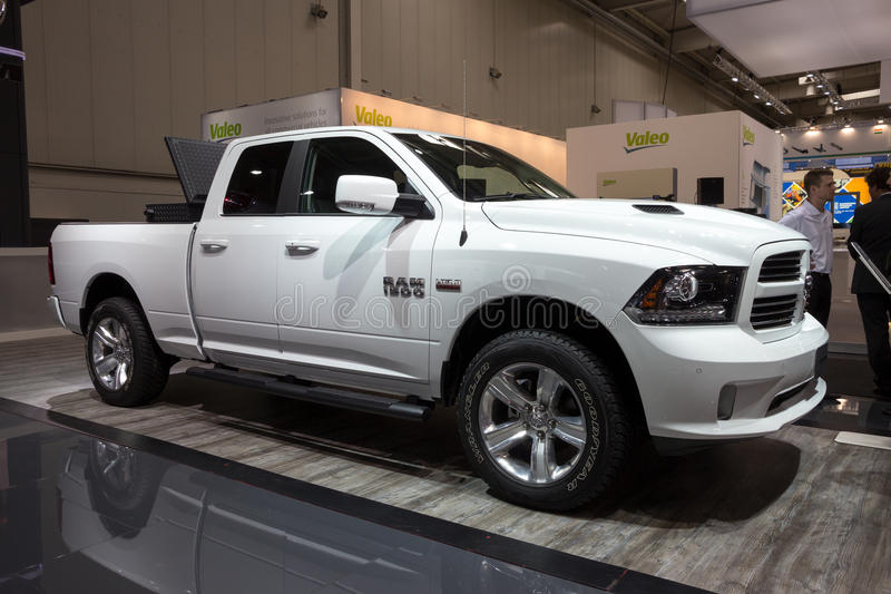 Dodge Ram 1500 pickup truck stock images
