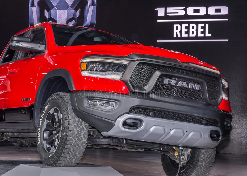 2019 Dodge Ram Rebel 1500, NAIAS foto de stock