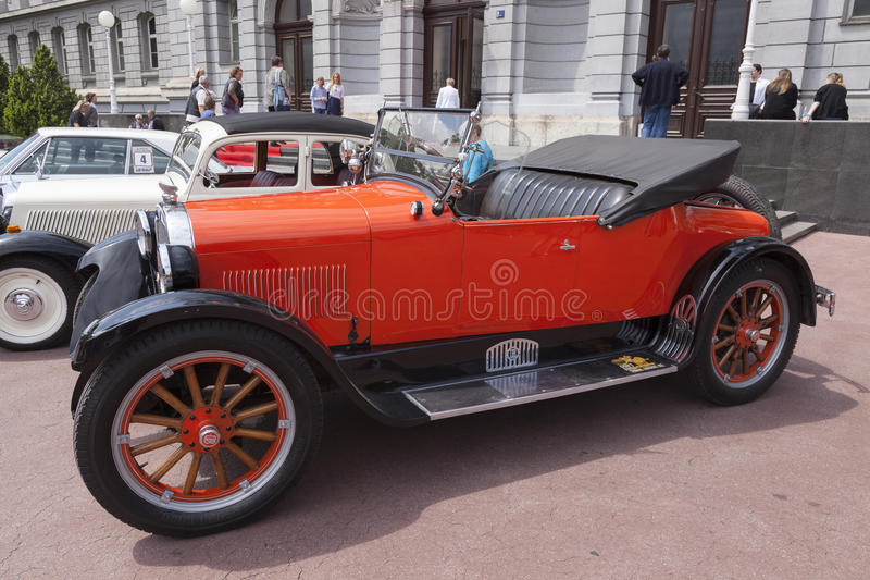 Dodge Roadster oldtimer. Dodge Roadster automobile from 1924 during oldtimer cars rally royalty free stock photo