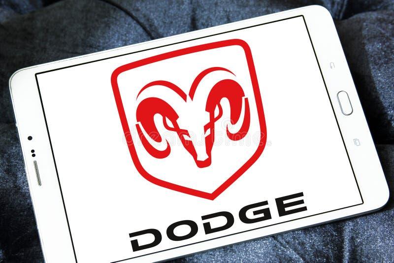 Dodge samochodu logo zdjęcie stock