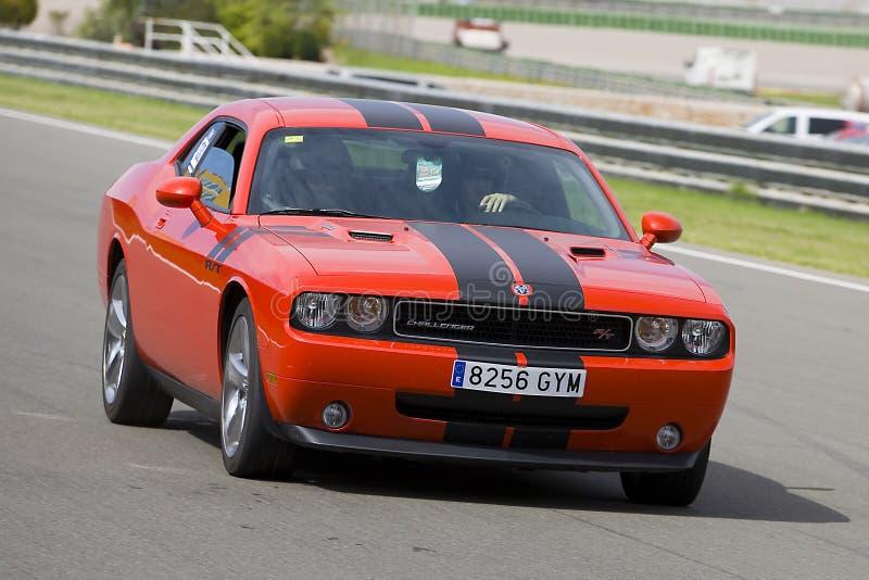 Dodge-uitdager rechts royalty-vrije stock afbeelding