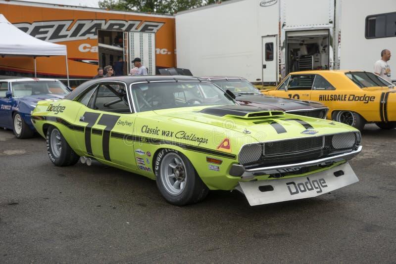Dodge-uitdager trans am raceauto royalty-vrije stock foto
