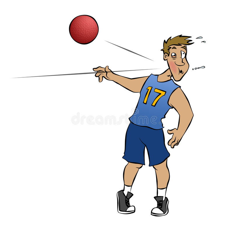 Dodgeball! vector illustratie