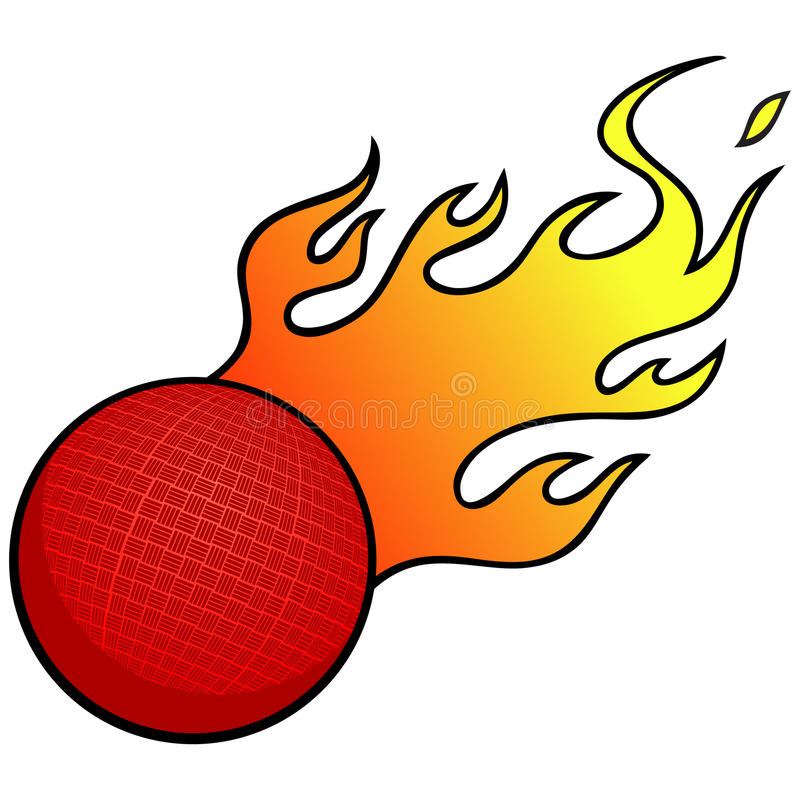 dodgeball with flames stock vector illustration of fitness 53855945 rh dreamstime com  dodgeball images clipart