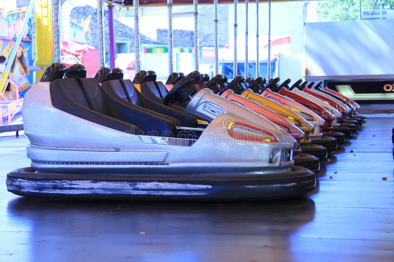 Dodgem Cars In A Row Stock Photo
