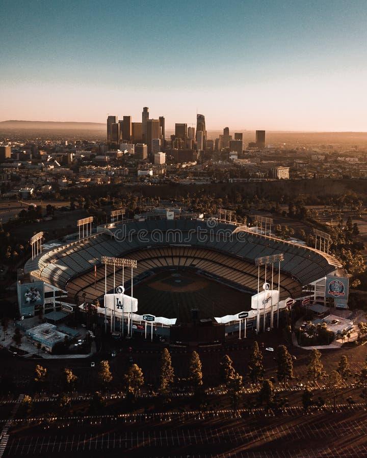 Dodger体育场 免版税库存图片