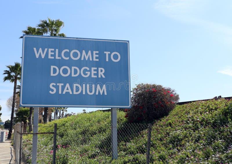 Dodger Stadium fotografia stock libera da diritti