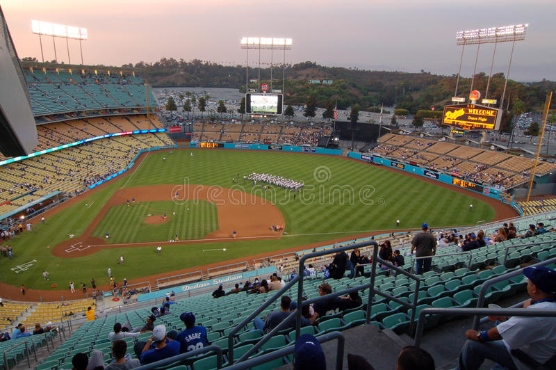 Dodgers-Baseball Stadion Los Angeles lizenzfreie stockfotos