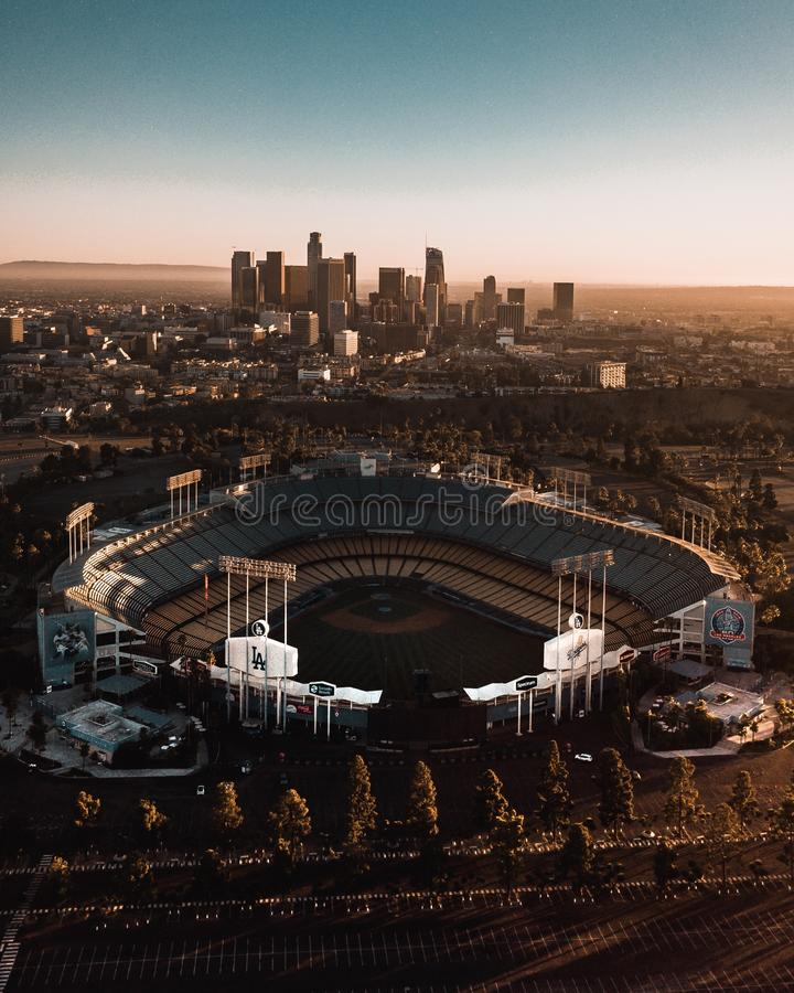 Dodgersi stadium obrazy royalty free