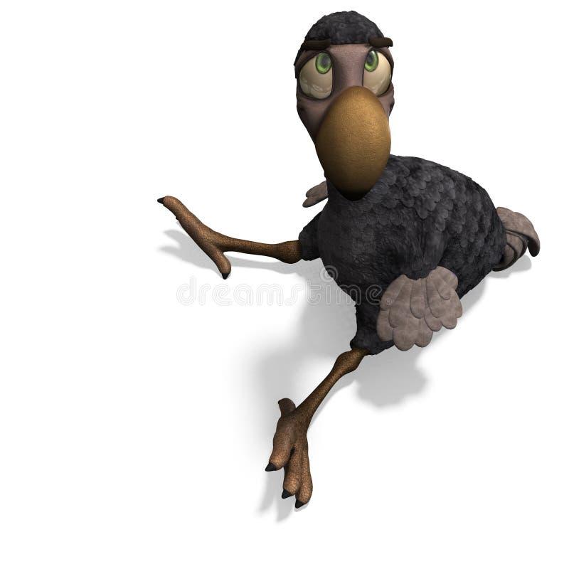 dodo ο αστείος Toon πουλιών πολ απεικόνιση αποθεμάτων