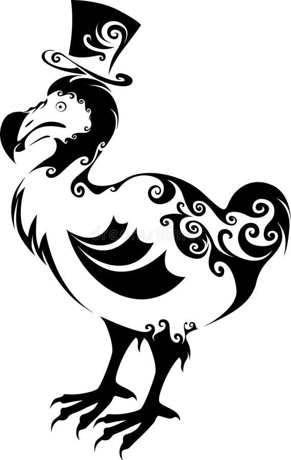 Dodo ptak royalty ilustracja