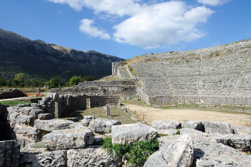Dodona, luogo di ORACLE del greco antico fotografia stock