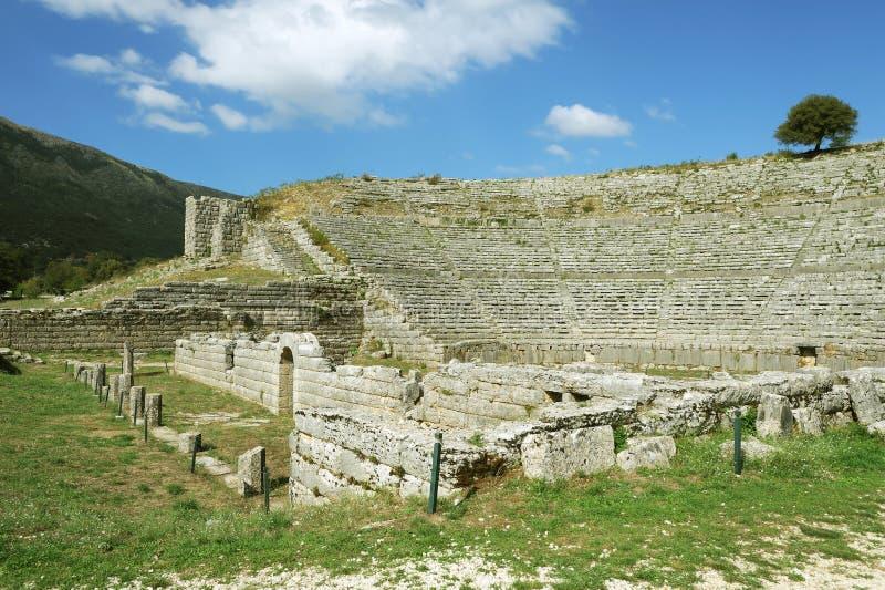 Dodona, primo sito di ORACLE di Grecia antica immagine stock libera da diritti