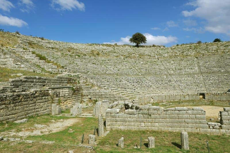 Dodona, sito di ORACLE di Grecia antica immagine stock libera da diritti