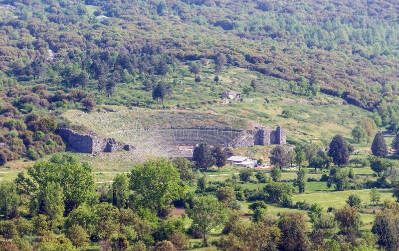 Dodoni ancient theatre, Epirus, Greece stock images