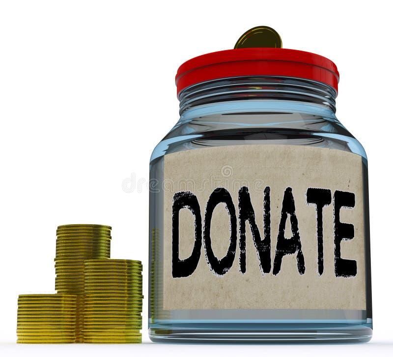 Doe a caridade Fundraising das mostras do frasco ilustração stock